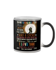 TO MY GORGEOUS WIFE Color Changing Mug tile