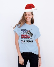I'm not a mama bear Classic T-Shirt lifestyle-holiday-crewneck-front-1