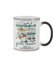 MUG - TO MY DAUGHTER-IN-LAW - NURSE - CROWN Color Changing Mug tile