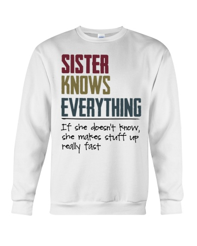 Sister knows everything If she doesn't know