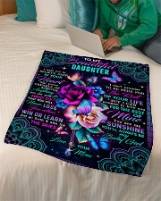 """To My Daughter - Roses - I Want You To Believe Small Fleece Blanket - 30"""" x 40"""" aos-coral-fleece-blanket-30x40-lifestyle-front-07"""