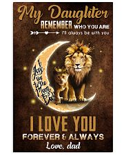 TO MY DAUGHTER - LIONESS PRINCESS - WHO YOU ARE 16x24 Poster front