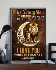 TO MY DAUGHTER - LIONESS PRINCESS - WHO YOU ARE 16x24 Poster lifestyle-poster-2