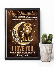 TO MY DAUGHTER - LIONESS PRINCESS - WHO YOU ARE 16x24 Poster lifestyle-poster-8