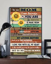 TO MY MOM - SUNFLOWER 16x24 Poster lifestyle-poster-2