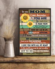 TO MY MOM - SUNFLOWER 16x24 Poster lifestyle-poster-3