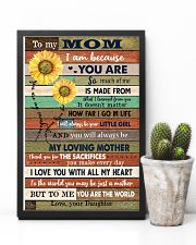 TO MY MOM - SUNFLOWER 16x24 Poster lifestyle-poster-8