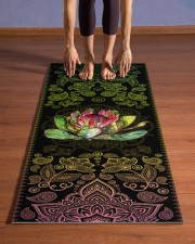 To My Daughter-in-law - Protea Flower - Mandala  Yoga Mat 24x70 (vertical) aos-yoga-mat-lifestyle-26
