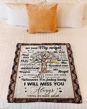 """FLEECE BLANKET - TO MY ANGEL DAD - TREE Small Fleece Blanket - 30"""" x 40"""" aos-coral-fleece-blanket-30x40-lifestyle-front-04"""
