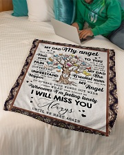 """FLEECE BLANKET - TO MY ANGEL DAD - TREE Small Fleece Blanket - 30"""" x 40"""" aos-coral-fleece-blanket-30x40-lifestyle-front-07"""