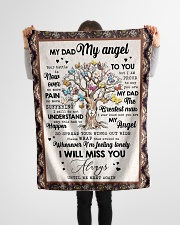 """FLEECE BLANKET - TO MY ANGEL DAD - TREE Small Fleece Blanket - 30"""" x 40"""" aos-coral-fleece-blanket-30x40-lifestyle-front-14"""