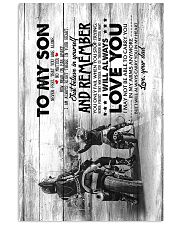 Dad to Son - Motocycling - Never Forget That You 11x17 Poster thumbnail