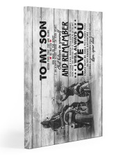 Dad to Son - Motocycling - Never Forget That You 20x30 Gallery Wrapped Canvas Prints front