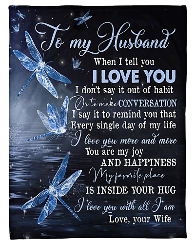 TO MY HUSBAND - DRAGONFLY - I LOVE YOU