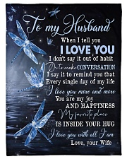 """TO MY HUSBAND - DRAGONFLY - I LOVE YOU Small Fleece Blanket - 30"""" x 40"""" front"""