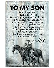 To My Son - Horse Riding - Never Forget That  16x24 Poster front