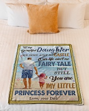 """To My Daughter - Our Home Ain't No Castle Small Fleece Blanket - 30"""" x 40"""" aos-coral-fleece-blanket-30x40-lifestyle-front-04"""
