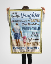 """To My Daughter - Our Home Ain't No Castle Small Fleece Blanket - 30"""" x 40"""" aos-coral-fleece-blanket-30x40-lifestyle-front-14"""