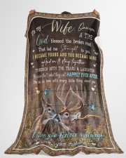 """To My Wife - I Became Yours And You Became Mine  Large Fleece Blanket - 60"""" x 80"""" aos-coral-fleece-blanket-60x80-lifestyle-front-10"""