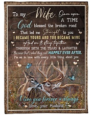 """To My Wife - I Became Yours And You Became Mine  Large Fleece Blanket - 60"""" x 80"""" front"""