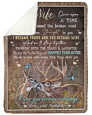 To My Wife - I Became Yours And You Became Mine  Sherpa Fleece Blanket tile
