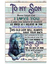 To My Son - Lion - This Old Lion Will Always 11x17 Poster thumbnail