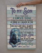 To My Son - Lion - This Old Lion Will Always 20x30 Gallery Wrapped Canvas Prints aos-canvas-pgw-20x30-lifestyle-front-29