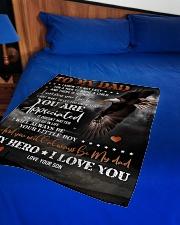 """To My Dad - Eagle - Fleece Blanket Small Fleece Blanket - 30"""" x 40"""" aos-coral-fleece-blanket-30x40-lifestyle-front-02"""