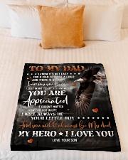 """To My Dad - Eagle - Fleece Blanket Small Fleece Blanket - 30"""" x 40"""" aos-coral-fleece-blanket-30x40-lifestyle-front-04"""