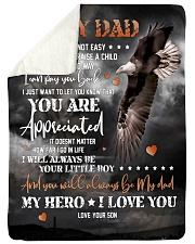 To My Dad - Eagle - Fleece Blanket Sherpa Fleece Blanket tile