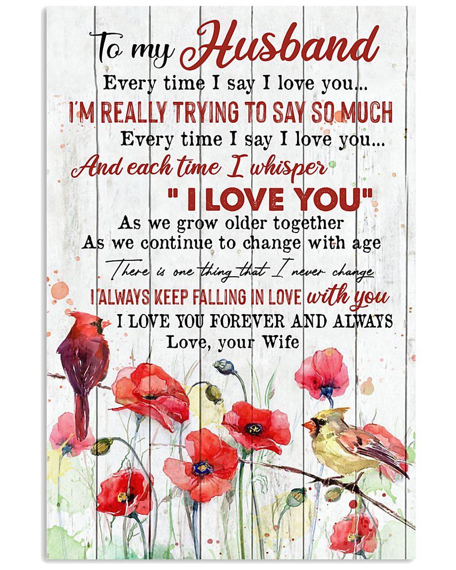 TO MY HUSBAND - CARDINAL - I LOVE YOU 16x24 Poster