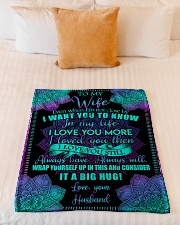 """To Wife - Even When I'm Not Close By  Small Fleece Blanket - 30"""" x 40"""" aos-coral-fleece-blanket-30x40-lifestyle-front-04"""
