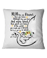 DAUGHTER TO MUM Square Pillowcase thumbnail