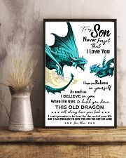 TO MY SON - TURQUOISE DRACO - OLD DRAGON 16x24 Poster lifestyle-poster-3