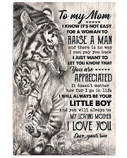 TO MY MOM - TIGER - YOU ARE APPRECIATED 16x24 Poster front
