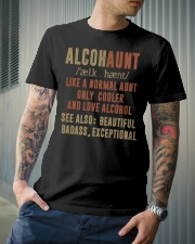 Like a normal aunt only cooler and love alcohol Classic T-Shirt lifestyle-mens-crewneck-front-6