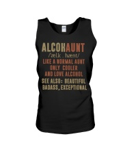 Like a normal aunt only cooler and love alcohol Unisex Tank thumbnail
