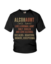 Like a normal aunt only cooler and love alcohol Youth T-Shirt thumbnail