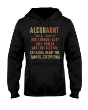 Like a normal aunt only cooler and love alcohol Hooded Sweatshirt thumbnail