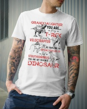GRANDDAUGHTER - PINK DINOS - FAVORITE Classic T-Shirt lifestyle-mens-crewneck-front-6