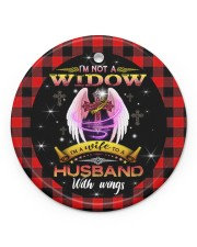 Angel - God - I'm A Wife To A Husband With Wings Circle ornament - single (porcelain) front