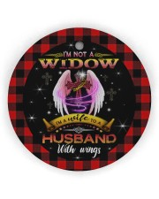 Angel - God - I'm A Wife To A Husband With Wings Circle ornament - single (wood) thumbnail