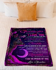 """To Granddaughter - I Am So Proud Of You  Small Fleece Blanket - 30"""" x 40"""" aos-coral-fleece-blanket-30x40-lifestyle-front-04"""