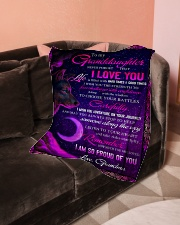 """To Granddaughter - I Am So Proud Of You  Small Fleece Blanket - 30"""" x 40"""" aos-coral-fleece-blanket-30x40-lifestyle-front-05"""