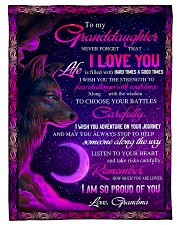 """To Granddaughter - I Am So Proud Of You  Small Fleece Blanket - 30"""" x 40"""" front"""