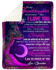 """To Granddaughter - I Am So Proud Of You  Large Sherpa Fleece Blanket - 60"""" x 80"""" thumbnail"""