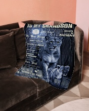 "Grandma to Grandson - Always Believe In Yourself  Small Fleece Blanket - 30"" x 40"" aos-coral-fleece-blanket-30x40-lifestyle-front-05"
