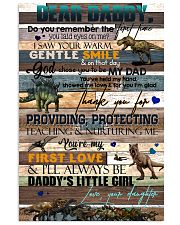 DEAR DADDY - DINOSAUR - THANK YOU 16x24 Poster front