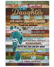 To My Daughter - Footprints - Canvas Vertical Poster tile