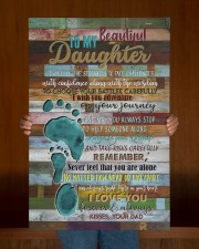 To My Daughter - Footprints - Canvas 20x30 Gallery Wrapped Canvas Prints aos-canvas-pgw-20x30-lifestyle-front-22